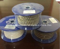 Fibra de aramida grafite embalagem trançada/fibra de aramida e grafite (SUNWELL PTFE)