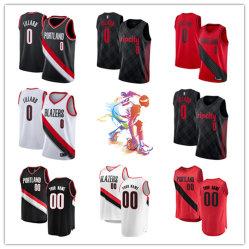 Hombres Mujeres Jóvenes Blazers Jerseys 0 Damian Lillard camisetas de baloncesto