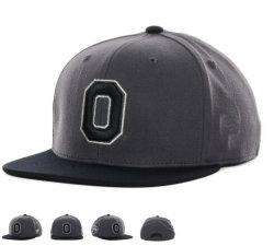 Sombreros de moda de algodón de color gris oscuro tapa Snapback