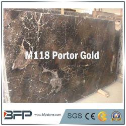 Portor baldosa de mármol de color oro/Wall Tile/Losa/cocina Top/vanidad
