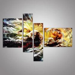 Starke visuelle Splash-Ink 3D Metall Handwerk Ölgemälde Wandkunst Einrichtung