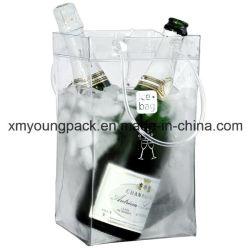 Рекламные переносной пластиковый ПВХ вина перевозчика вино мешок охладителя