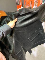 Saison hivernale 2019/2010 Velvet PU veste en cuir synthétique pour vêtement vers le bas Tissu Tissu