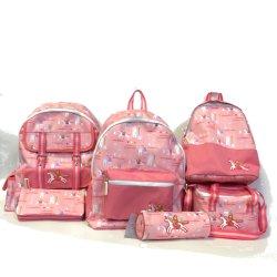 Sac à lunch du refroidisseur, étudiant de crayon, fille de dessins animés pour enfants Sac enfant sac à dos sac chariot d'impression de l'école