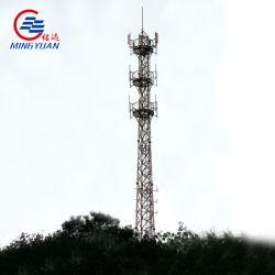 GSMの自己の支持面の角のISOの証明書が付いている鋼鉄テレコミュニケーションタワーのアンテナ