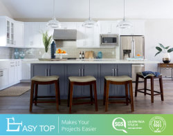 Bricolaje en madera de roble sólido de color blanco de arroz cocina armario muebles con estilo Shaker