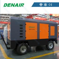 Portable alimenté par diesel industriels Mobile compresseur à air de type à vis à 9 bar