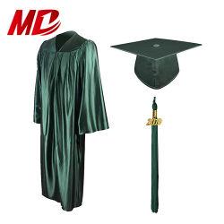 De Glanzende Groene Stof van de Toga van de Graduatie GLB van de middelbare school