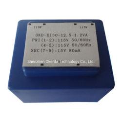 Ei30 PCB RoHS 세륨 TUV UL를 가진 설치에 의하여 캡슐에 넣어지는 단계적으로 감소하는 전력 변압기