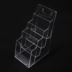 カスタムテーブルトップの明確なプラスチックアクリルのリーフレットのパンフレットの表示ホールダーの立場