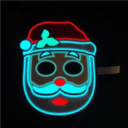 Il controllo di voce della mascherina della Santa LED di natale illumina in su l'indicatore luminoso a comando vocale