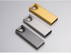 Venda por grosso de Unidade USB metal gravada a laser Mini Disco U Automóvel