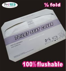 Aufbereiteter Papier 1/2 Falten-Wegwerfpapiertoiletten-Sitzdeckel-hygienischer Schutz Flushable Toiletten-Sitzdeckel