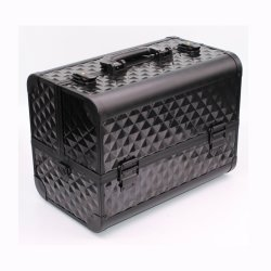 Professional Muti-Function tren maquillaje profesional caso aluminio con 6 niveles de la bandeja y Portaescobillas