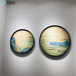 Peinture sur verre décoratif avec design de paysage chinois (MR-YB6-2053C)