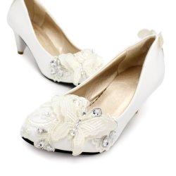Boda Moda Mujer Zapatos Zapatos de encaje tejido artesanal con zapatos de boda