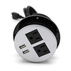 Nós Tomada redonda com porta USB
