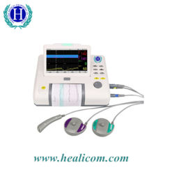 Portable Hmf-8 7 polegadas do Monitor Fetal duplo sem fio do monitor fetal