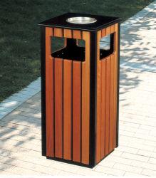 صندوق نفاية خشبيّة خارجيّ, [وست بسكت], كبير نفاية علبة