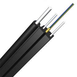Câble de descente FTTH chinois bon prix de gros Oudoor 1 Core chute en fibre optique monomode câble câble de descente LSZH Cordon de raccordement avec autonomes avec l'acier ou de PRF