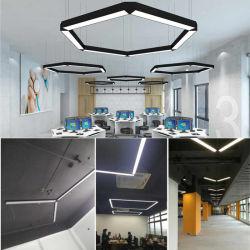 LED de alta potencia Dispositivo de luz lineal de 4 pies~8 pies colgando de la luz LED impermeable lineal del supermercado 20W~80W LED IP20 para interiores, Iluminación lineal