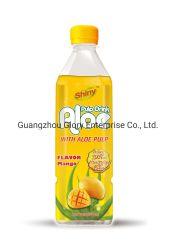 500mL の光沢のあるブランド「アロエベラ」ドリンク剤「マンゴーフレーバー」 5% アロエ・パルプとジュース 30%