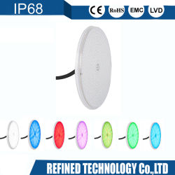 PAR56 rempli de résine RGBW Picine ampoule LED IP68 18W 24W 35W Piscine sous-marin de la lumière avec ce RoHS