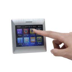 4 het Scherm van de Aanraking van het kanaal 15W in de AudioVersterker van de Muur met Bluetooth, Draadloze Afstandsbediening en 4 Stukken Coaxiale Sprekers van het Plafond, Steunen USB/SD/Aux/FM/Bt