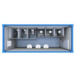 Prefabbricare tutti in una stanza da bagno modulare prefabbricata di campeggio della toletta