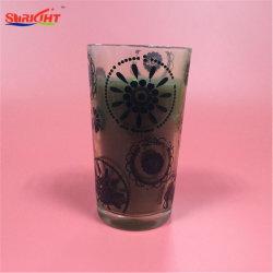 Autocollant noir grand pot de verre ensemble cadeau de bougie