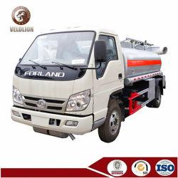 中国Foton 3000liters 3000Lの燃料ディスペンサーの機械装置の手段5tonsのガソリンディーゼル油の給油ポンプトラックの部品