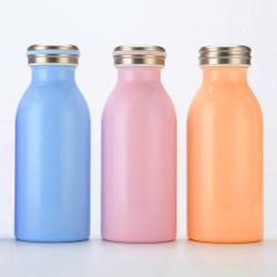 Dos capas de acero inoxidable Frasco de leche caliente y fría la botella de agua 350ml frasco