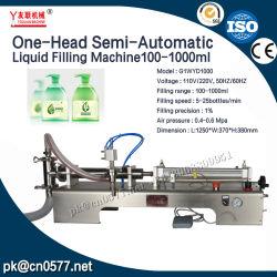 Semi-automático cabeça única máquina de enchimento líquido G1O DMJ-1000