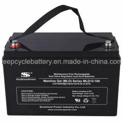 Armazenamento de Energia Renovável 12V 100Ah tipo gel bateria solar