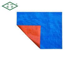 Het het waterdichte Oranje Blauwe PE Geteerde zeildoek van het Polyethyleen/PE Blad/het Broodje van Tarps de Stof/het Canvas/voor de Dekking van de Vrachtwagen