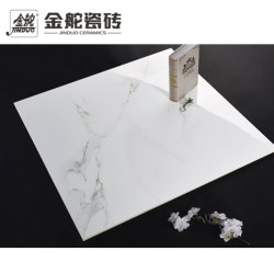 陶磁器の磁器の床のフォーシャンの工場からの壁によって艶をかけられる居間の白い大理石のタイル