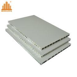 Sándwich de polipropileno ligero compuesto de plástico de fibra de vidrio de madera de piedra de PP FRP Nida núcleo en forma de panal de 4X8 de panel de pared paneles de panal de aluminio estructural