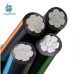 Isolation en polyéthylène réticulé Service 0.6-1kv antenne câble groupés des frais généraux de l'aluminium ABC