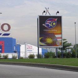 La publicité Publicitario Cartel Columna preuve le Triple affichage de panneaux d'eau