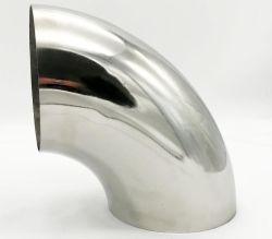 أنبوب أنبوب المرفق من الفولاذ المقاوم للصدأ المصقول بحجم 2' /2.5' 90 درجة مدخل الهواء