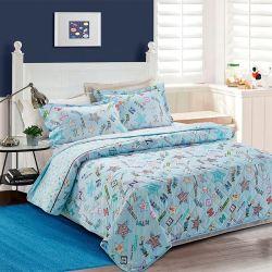 Polyester personnalisé courtepointe couvre-lit d'été imprimé à la main patchwork