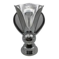 Personnaliser des jeux de soccer de la résine Trophée des Champions de placage argent Prix de reconnaissance de la Coupe du