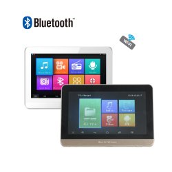 O Android Mini USB WiFi Bluetooth Ecrã táctil de 7 polegadas 25 W 4 Canais Wireless Home Audio HiFi Sistema de fundo musical no amplificador e controlo remoto montada na parede