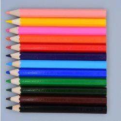 Los niños diseño personalizable de dibujo fácil de 3,5 pulgadas hexagonal 12 pzas lleva suave de color Crayola lápices en caja de papel