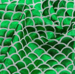 Lycraナイロンホイルの魚スケールプリントメッシュ生地