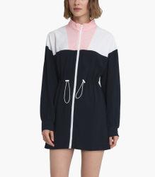 Mode Packable noir coupe-vent de la moitié zip veste coupe-vent Womens