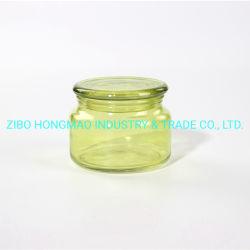 300ml frasco de vidrio Velas de Soya Portavelas de color para la decoración del hogar