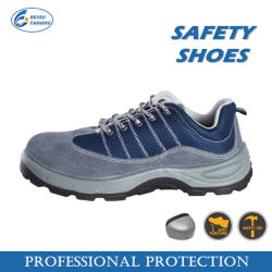 La construcción de gamuza de seguridad zapatos de cuero, zapatos de trabajo de corte bajo
