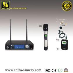 S21 de UHF Draadloze Microfoon van de Hoge Macht van het Enige Kanaal