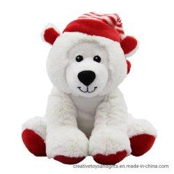Orso polare della peluche di Attractice presente per il giorno di Natale